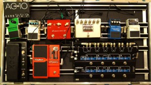 Guitar pedal board test