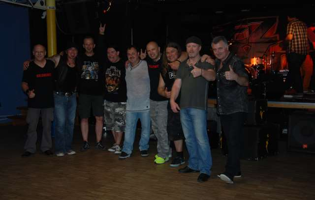 Coldheart + EzLivin after show, Schrobenhausen, Firestorm Tour 2014